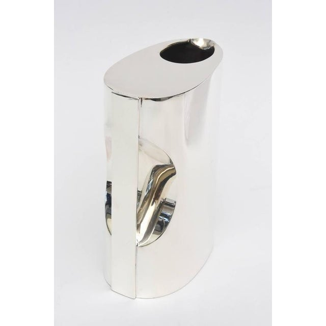 Couer 1950s Couer Sterling Silver Sculptural Hallmarked Pitcher For Sale - Image 4 of 8