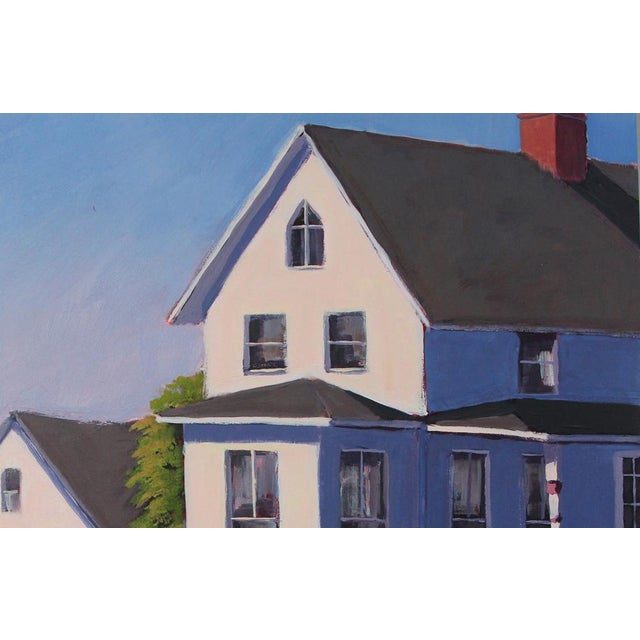 Abstract Carol C Young, House by the Harbor, 2015 For Sale - Image 3 of 5