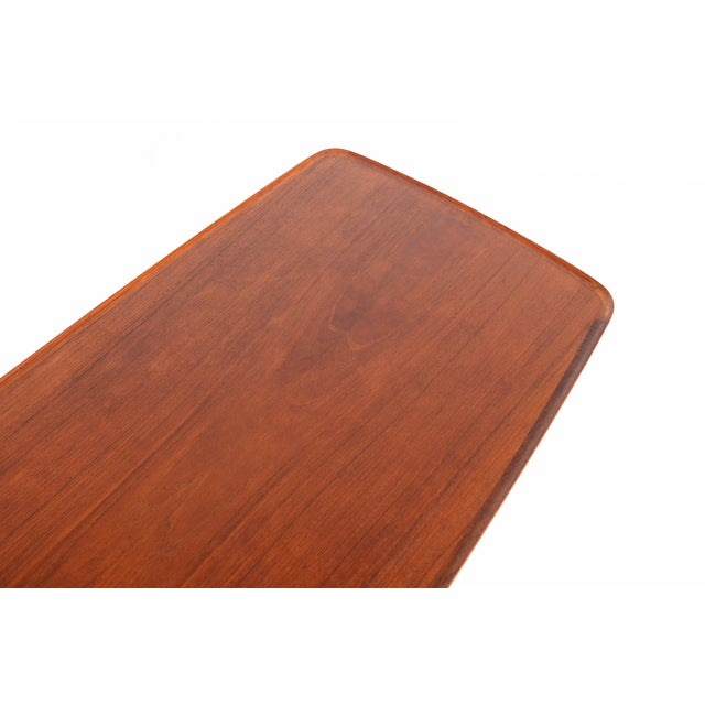 Danish Modern Teak Surfboard Coffee Table - Image 8 of 8