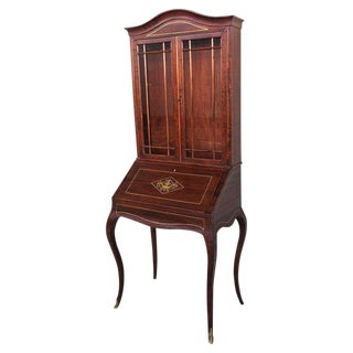 18th Century Louis XVI Style French Inlaid Secretary Desk For Sale