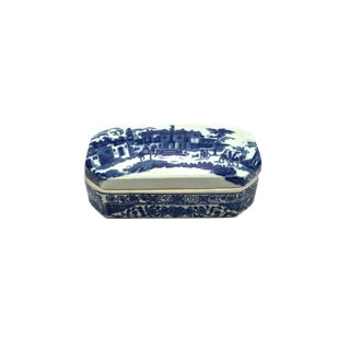 Blue & White Ironstone Box For Sale