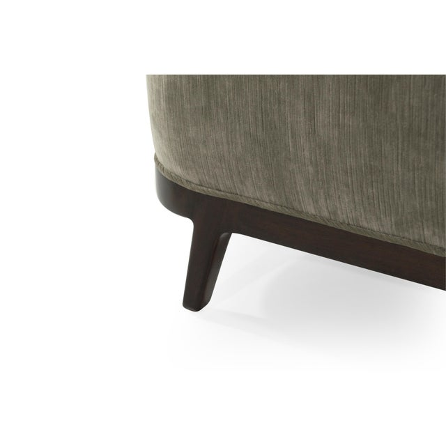 Mid-Century Modern Tub Chairs in Chenille For Sale - Image 10 of 12