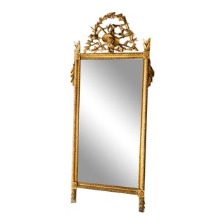 18th Century Gold Queen's Hamlet Style Mercury Glass Mirror For Sale