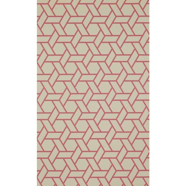 "Manuel Canovas ""Trellis Rouge"" Wallpaper - 7 Rolls For Sale"