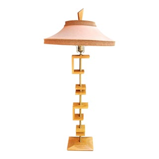 Mid-Century Floor Lamp by James Mont, With Original Shade For Sale