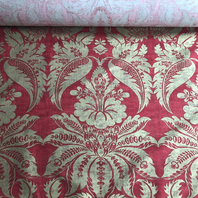 Anna French Tyntesfield Fabric 15per Yards Red Gold Floral 30 Yards Available