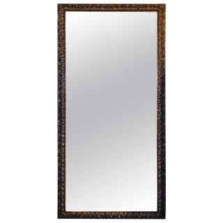Monumental Gilt Gold Shell Carved Floor Mirror For Sale