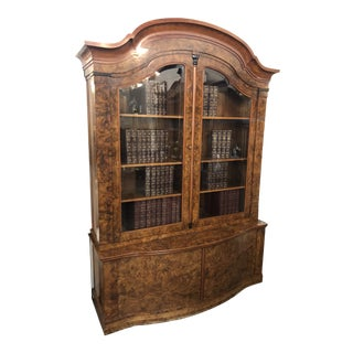 20th Century Danish Modern Otto Meyer Burled Walnut Bookcase For Sale