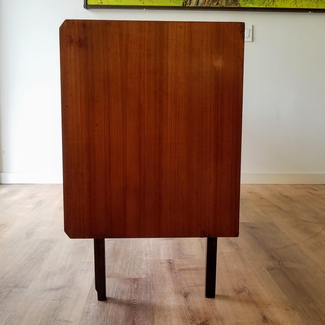 Brown Vintage Mid-Century Modern Italian Credenza For Sale - Image 8 of 12