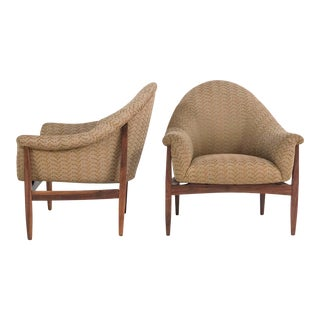 1960s Mid-Century Modern Milo Baughman for Thayer Coggin Low Scoop Club Chairs - a Pair