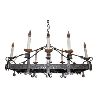 French rococo iron chandelier chairish french wrought iron chandelier aloadofball Choice Image
