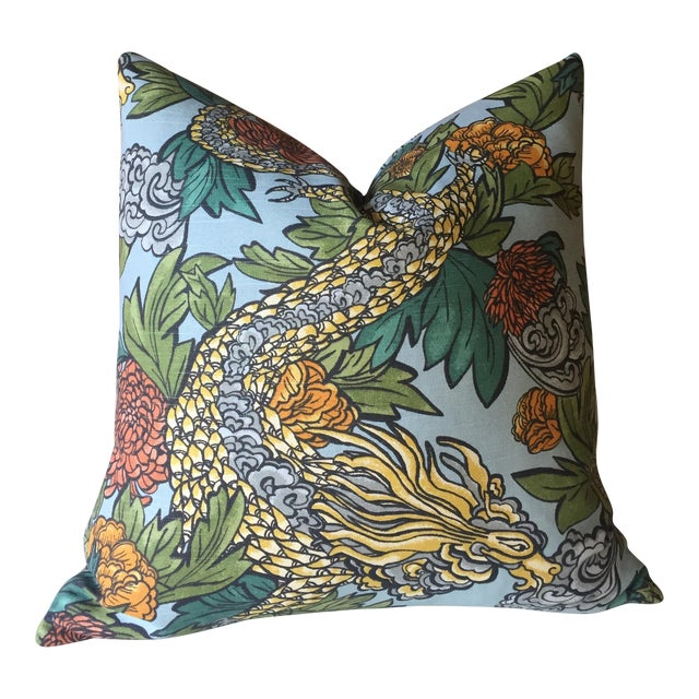 Ming Dragon Pillow Cover - Image 1 of 4