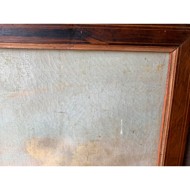 Canvas French Trumeau Mirror With Idyllic Pastoral Landscape For Sale - Image 7 of 12