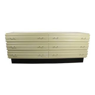 1970s Parzinger Style Creme Lacquer Dresser For Sale