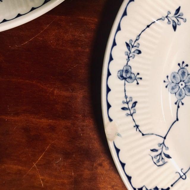 Ceramic Dessert/Pie Plate Denmark Blue by Franciscan - Set of 7 For Sale - Image 7 of 8