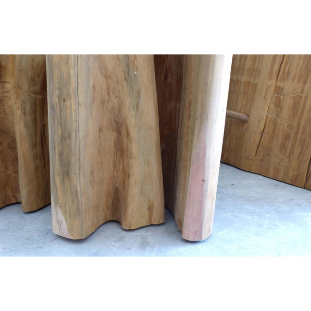 Contemporary Brazilian Amazon Guaranta Wood Table Base For Sale - Image 3 of 7