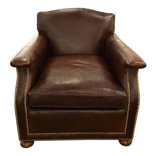 Modern Ralph Lauren Leather Club Chair For Sale
