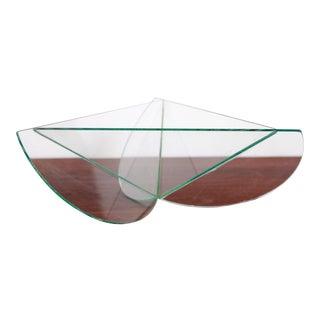 Contemporary Memphis Design Style Cut Glass Geometric Bowl For Sale