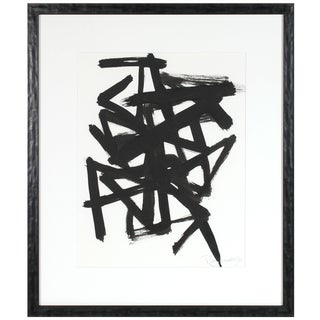 """""""Parlance Vi"""" Abstract Expressionist Ink Drawing For Sale"""