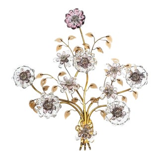 Great Single Lobmeyr Sconce or Wall Chandelier, Austria, 1950 For Sale
