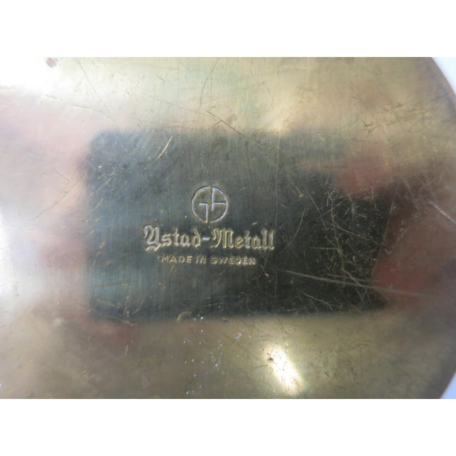 Metal Mid 20th Century Ystad-Metall Candle Holder For Sale - Image 7 of 11