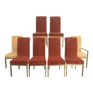 Hollywood Regency Dining Chairs - Set of 8