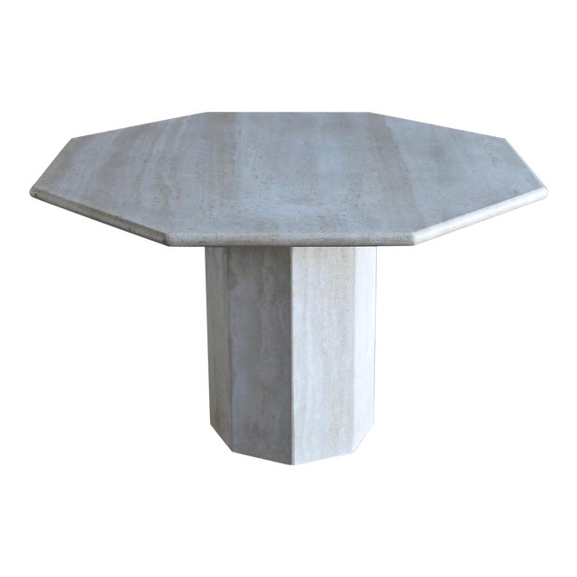 Octagonal Travertine Centre Table, Circa 1975 For Sale