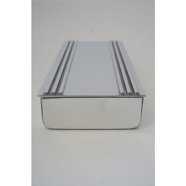 Vintage American Art Deco 1930s Kensington Box in Aluminum from a Palm Beach estate Please note the last picture shows the...