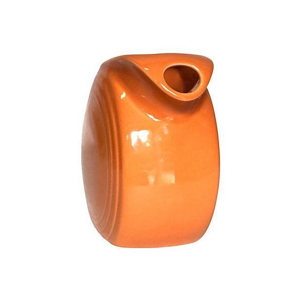 1980s Tangerine Orange Fiesta Ware Disc Pitcher For Sale - Image 5 of 6