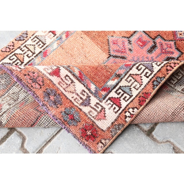 "Textile 1960's Vintage Turkish Hand-Knotted Long Runner Rug - 2'6"" X 13'8"" For Sale - Image 7 of 11"
