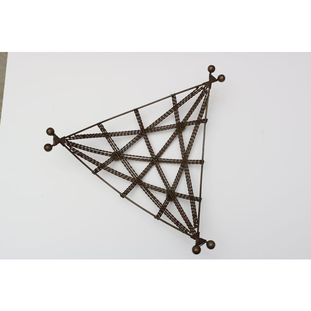 French Geometric Wire Basket For Sale - Image 4 of 6