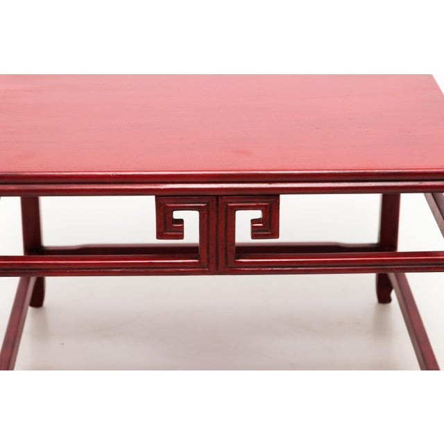 Michael Taylor for Baker Far East Red Occasional Table For Sale In New York - Image 6 of 9