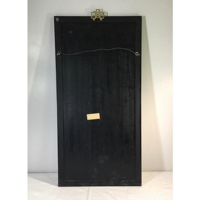 Wood Chinese Mid-Century Gemstone Figural Wall Panel For Sale - Image 7 of 9