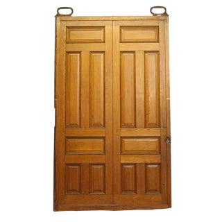 Raised Panel Oak Pocket Doors