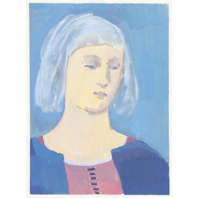 Renaissance Woman Original Portrait Painting For Sale