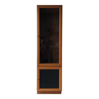 Vintage Mid Century Modern Danish Style Curio Display Cabinet. For Sale