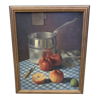 Apple Still Life by John Taylor, 1935 For Sale
