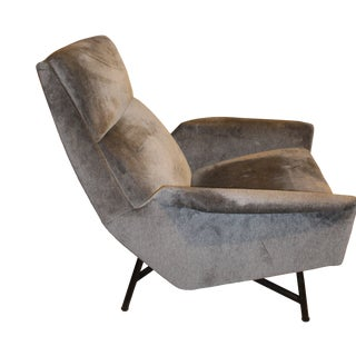 Pair of Claude Vassel Lounge Chairs, 1950s France- Recovered in Holland and Sherry Velvet. For Sale