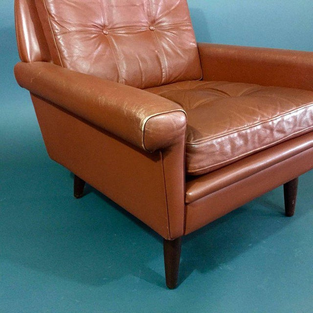 Pair 1960s of Danish Leather Lounge Chairs For Sale - Image 4 of 8