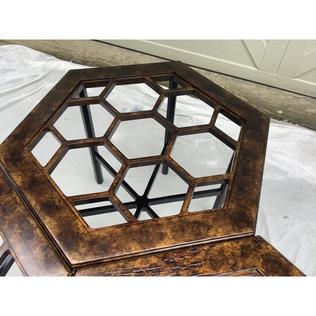 Black Widdicomb Honeycomb Tables, Set of 3 For Sale - Image 8 of 13