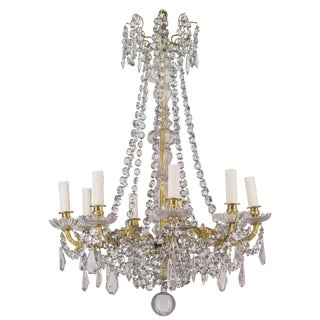 19th Century French Crystal Chandelier For Sale