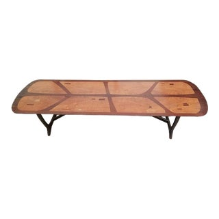 P373 Classic Mid Century Coffee Table Teak & Rosewood With Inlay