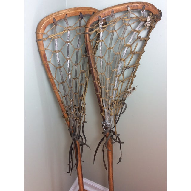 Animal Skin One Vintage Wood and Leather Lacrosse Stick - *** Only One Left**** For Sale - Image 7 of 7