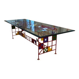 Bauhaus Steel and Glass Dining Set For Sale