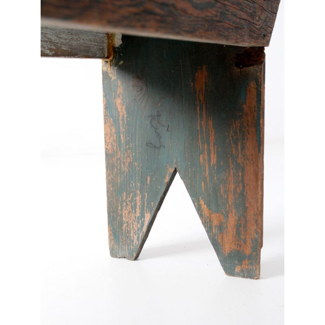 Antique Wooden Bench For Sale - Image 9 of 11