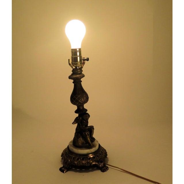French Cupid Motif Table Lamp Chairish