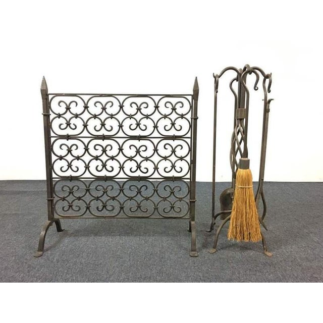 Fireplace Scroll Rack and Tools - A Pair - Image 2 of 5