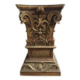 Image of 1940s Rococo Hand Carved Dining Table Pedestal Base For Sale