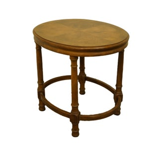 "1980s Traditional Drexel Heritage Chatham Oak Collection 21x26"" Oval Accent End Table Preview"