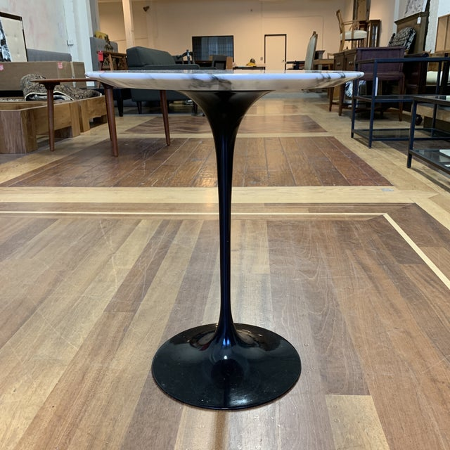 Design Plus Gallery presents a Saarinen side table by Knoll. Designed by Eero Saarinen in 1957 With the Pedestal...